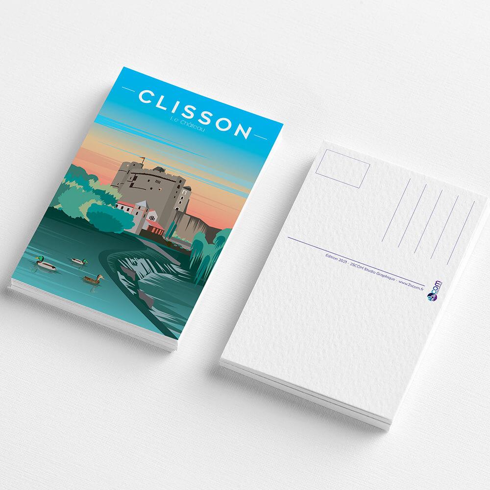 cartes-postales-souvenirs-clisson-chateau-vignoble-loire-atlantlique-vacances